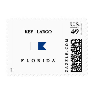 Key Largo Florida Alpha Dive Flag Postage