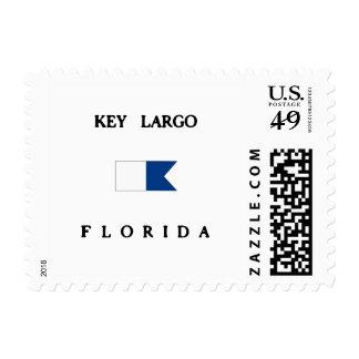Key Largo Florida Alpha Dive Flag Postage Stamp