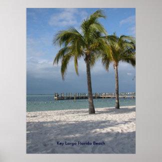 Key Largo Florida Beach Poster