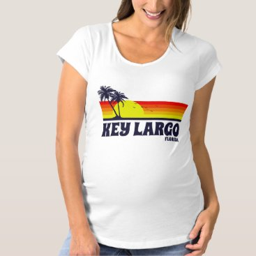 Beach Themed Key Largo Florida Maternity T-Shirt