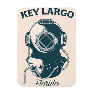 Key Largo Florida Nautical Diving travel poster Magnet