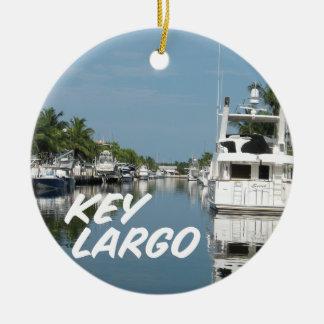 Key Largo Florida scene Ceramic Ornament