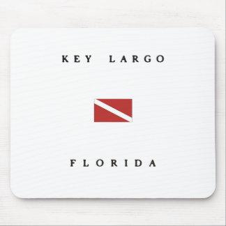 Key Largo Florida Scuba Dive Flag Mouse Pad