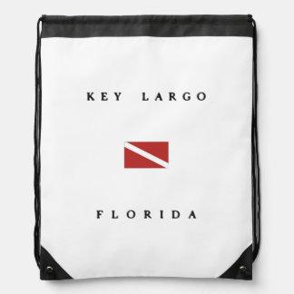Key Largo Florida Scuba Dive Flag Cinch Bag