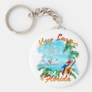 Key Largo Florida Trop Rock Keychain