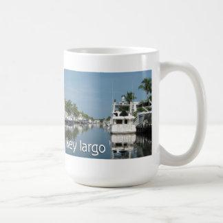 Key Largo scene with boats Classic White Coffee Mug