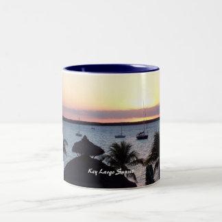 Key Largo Sunset Two-Tone Coffee Mug