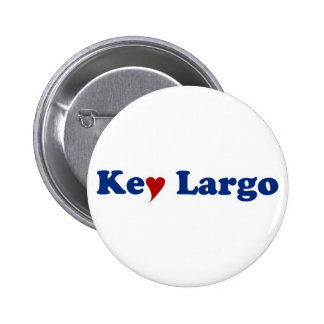 Key Largo with Heart 2 Inch Round Button