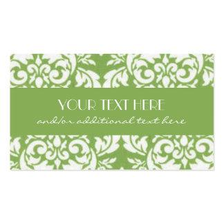 Key Lime Damask Business Card