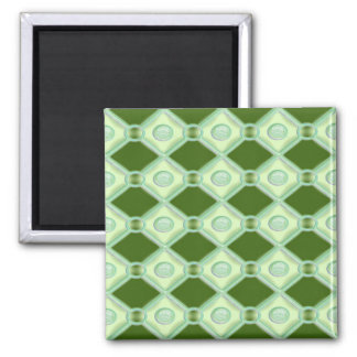 Key Lime Diamonds 2 Inch Square Magnet