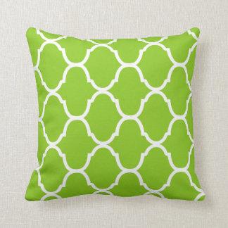 Key Lime Green Villa Print Throw Pillow