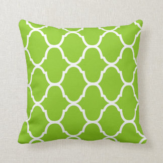 Key Lime Green Villa Print Throw Pillow