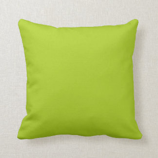Key Lime Green Yellow Solid Trend Color Background Pillow