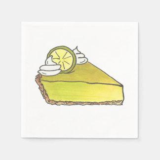Key Lime Keylime Pie Slice Food Dessert Napkins