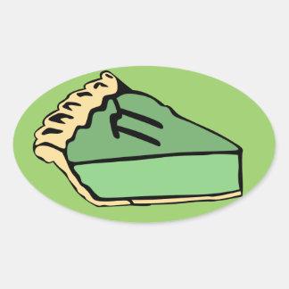 Key Lime Pi Day Oval Sticker