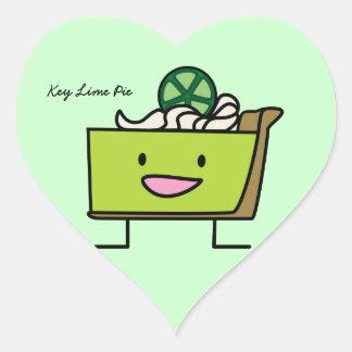 Key Lime Pie American dessert slice graham crust Heart Sticker
