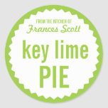 Key Lime Pie Bake Sale Label Template Classic Round Sticker