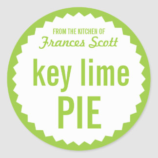 Key Lime Pie Bake Sale Label Template Round Stickers