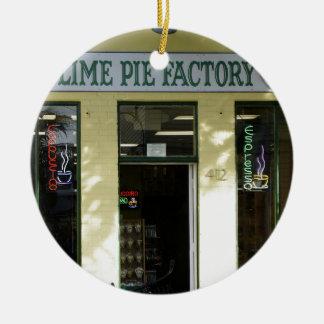 Key Lime Pie Ceramic Ornament