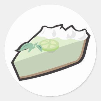 key lime pie classic round sticker