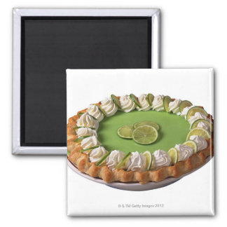 Key lime pie 2 inch square magnet