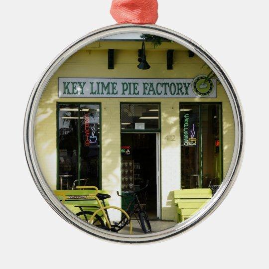 Key Lime Pie Metal Ornament