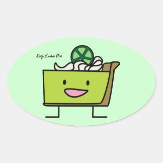Key Lime Pie Oval Sticker