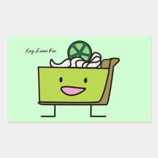 Key Lime Pie Rectangular Sticker