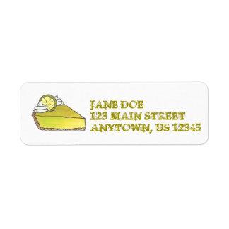 Key Lime Pie Slice Return Address Labels
