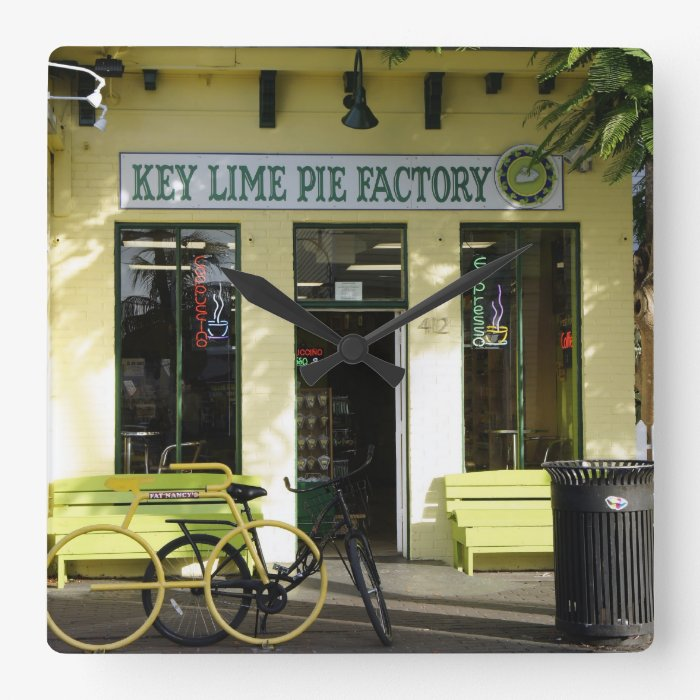 Key Lime Pie Square Wall Clock