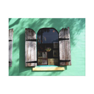 Key Lime Pie Window Key West Florida Wrapped Canva Gallery Wrapped Canvas