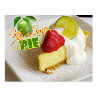 Key Lime Pie with strawberries Postcard