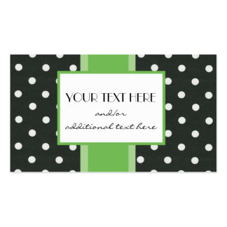 Key Lime Polka Dot Double-Sided Standard Business Cards (Pack Of 100)