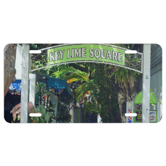Key Lime Square License Plate