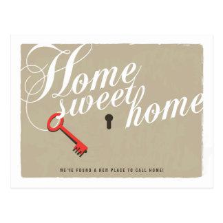 Key Lock New Address Announcement Postcard
