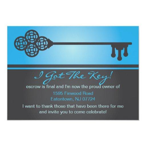 Key - New House Announcement Invitation