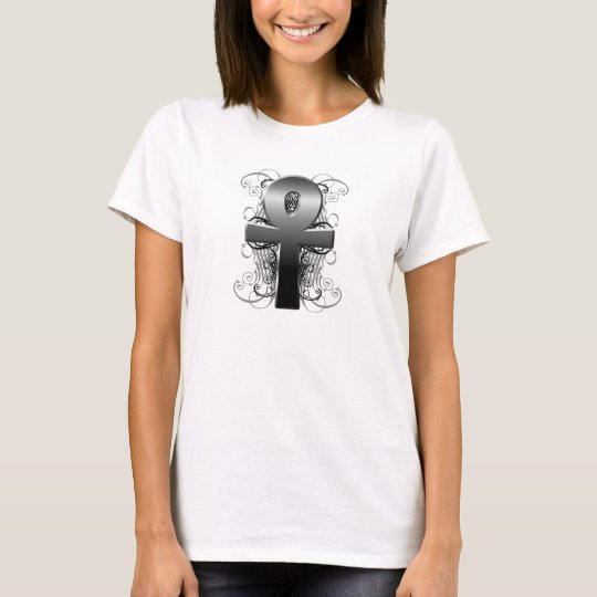 """Key of Life (Ankh)"" in Chrome T-Shirt"