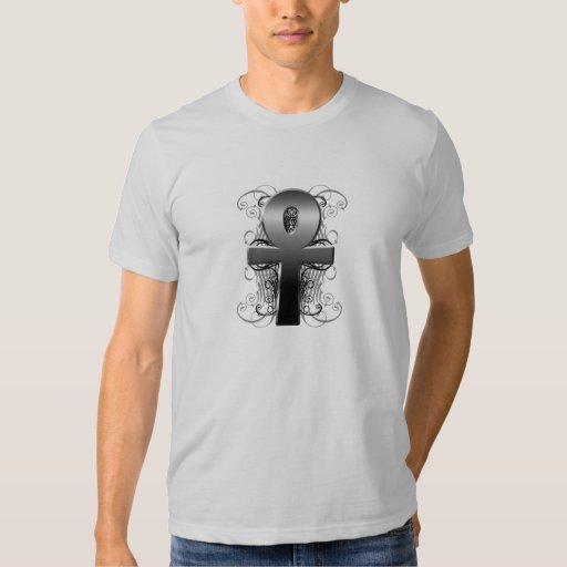"""Key of Life (Ankh)"" in Chrome T-Shirt"