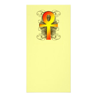 """Key of Life (Ankh)"" in Gold Bookmarks Photo Greeting Card"