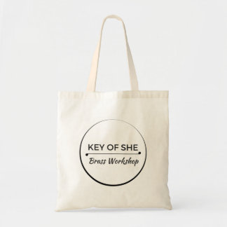Key of She Brass Logo Tote