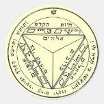 Key of Solomon 17 Round Sticker