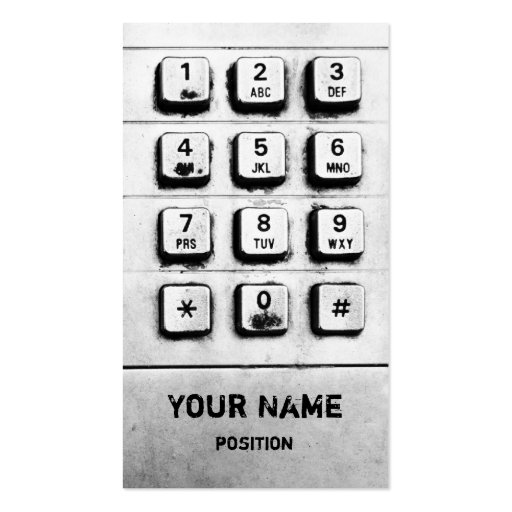 key pad business card