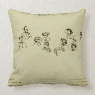 Key Plate to Portrait of the Royal Family at Osbor Pillows