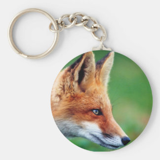 key-ring 5,7cm round russet-red fox keychain