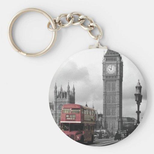 """Key ring """"Big Ben """" Basic Round Button Keychain"""