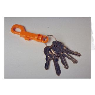 Key ring card