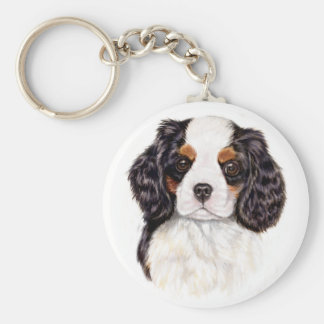 Key ring : Cavalier king charles spaniel pup