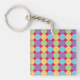 Key ring colorful design and geometric Lunares1 Keychain