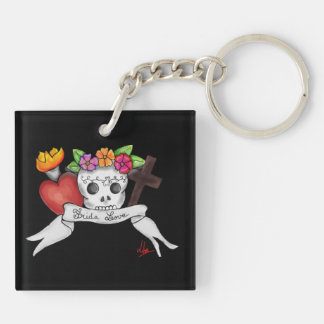 Key-ring doubles face Frida Love Keychain