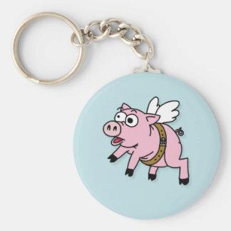 Key ring Flying Piggy Keychain